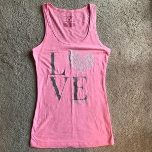 Neon Pink Victoria's Secret Sleep Tank Top